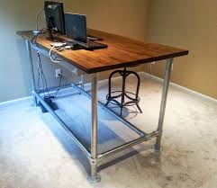 catchy diy pipe desk plans 37 diy standing desks built with pipe and kee klamp projects