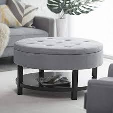Image Glass Image Unavailable Amazoncom Amazoncom Belham Living Coffee Table Storage Ottoman With Shelf