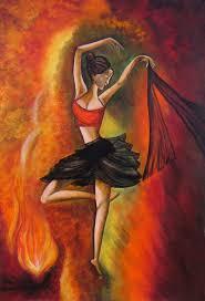 canvas paintings for sale. Neeraj Parswal Artwork: Sizzling Dance Original Acrylic Painting | Impressionism Art Canvas Paintings For Sale A