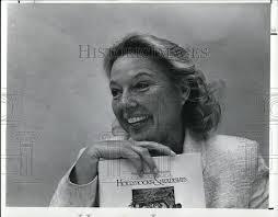 1989 Press Photo Hollyhocks & Radishes author, Bonnie Mickelson ...