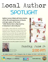 Local Author Spotlight: Lenore Wade - Sunday, June 24, 2018, 2 p.m. to 3  p.m. | San Diego Reader