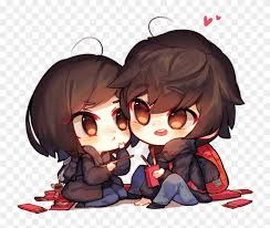 Cute Couple Png Pocky Day By Magancito Hugging Cute Chibi Couple Hd Png