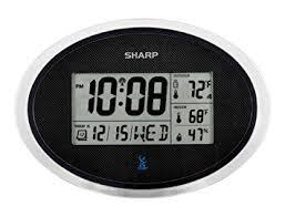 sharp weather station. ashton sutton sharp spc936 atomic wall clock weather station