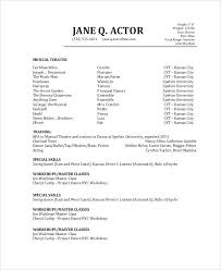 actor resume no experience sample acting resume no experience actors resume with no experience