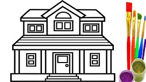 Small Picture How to Draw House Coloring Pages Youtube Videos for Kids Learning