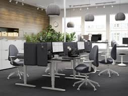 Ikea office inspiration Black Black And Gray Office With The Heightadjustable Sitstand Bekant Desk Ikea Business Furniture Inspiration Ikea