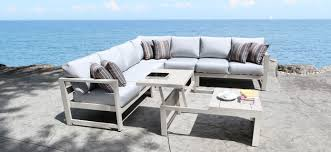 modern aluminum patio furniture. Beautiful Patio Cast Aluminum Patio Furniture  Wynn Outdoor Sectional With A Modern Teak  Design In Toronto On T