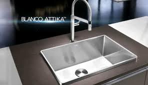 high quality handcrafted stainless steel sink blanco attika high kitchen sprayer end sinks full