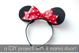 how to diy your own mickey and minnie mouse ears