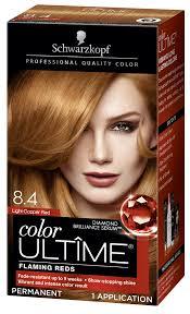 Light Copper Brown Hair Color Schwarzkopf Color Ultime Permanent Hair Color Cream 8 4 Light Copper Red