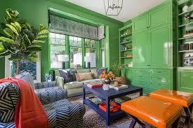 Blue Orange Green Living Room Design