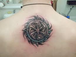 Tetování Zobrazující Slovanské Válečníky Ochrana Tetování Talismany