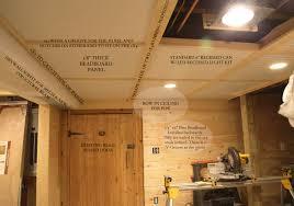 easy eye basement lighting. diy basement beadboard ceiling details with removable sections easy eye lighting o