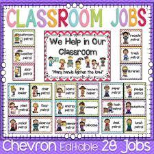 4th Grade Classroom Job Chart Free Classroom Jobs Worksheets Teaching Resources Tpt