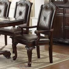 side chair from crown mark 176 18 kiera traditional dining arm chair with upholstered back and seat