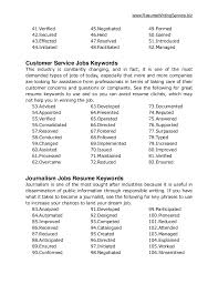 Super Ideas Key Words For Resume 12 Ultimate List Of 500 Resume throughout  Keywords For Customer