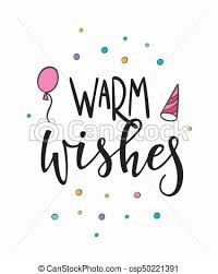 Warm Wishes Lettering Typography