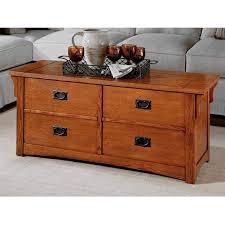 mission craftsman oak coffee table