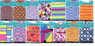 amazon stretchable jumbo book covers 6 pack patterns shapes office s