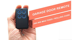unboxing garage door remote 286 868 mhz fixed roling code universal
