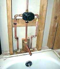 installing new shower valve installing new shower faucet to shower valve installation shower mixing valve rough