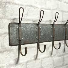 Metal wall hooks Bent Metal Vintage Industrial Style Wall Mounted Coat Hooks Rack Pegs Towel Rail Urban Chic Amazing Grace Interiors Vintage Industrial Style Wall Mounted Coat Hooks Rack Pegs Towel