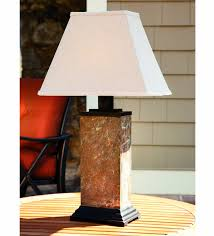 floor lamps for patio with wooden round nightstand and white top side lamp