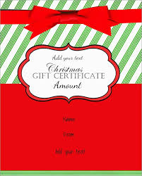 Free Printable Christmas Gift Certificate Template Word