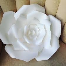 large templates diy large paper rose youtube