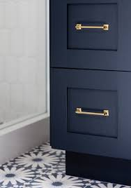 Dark Blue Bathroom Cabinet And Pulls Hague Blue Bathrooms Pinterest Master