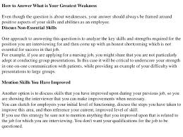 Weaknesses For Interview Examples Answers To 3 Common Resume Questions Q And A Resume Format