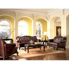 victorian style living room furniture. victorian style leather sofa love seat u0026 chair set living room furniture