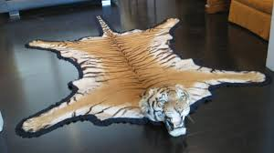 antique registered taxidermy tiger rug prior to endangered classification 2