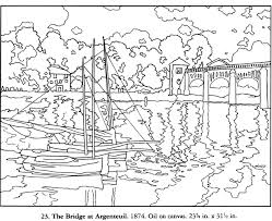 Small Picture FREE coloring page from Dover The Bridge From Argenteuil MONET