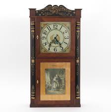 a seth thomas 8 day wooden works shelf clock ca 1840 s