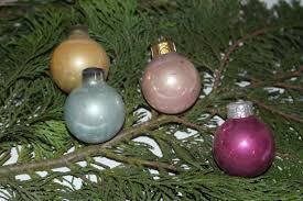 Schöne Pastellfarbene Christbaumkugeln Weihnachtsschmuck Christbaumschmuck