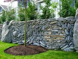 Small Picture Decorative garden fence panels and walls with natural stone