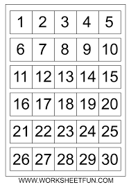 Preschool Number Chart 1 10 Free Printable Number Charts And 100 Charts For Counting