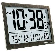 large digital wall clock with temperature inch digit calendar