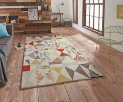 modern wool rugs blue