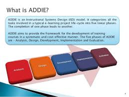 Instructional System Design Addie An Instructional Systems Design Model
