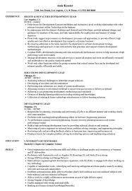 Resume Best Practices Development Lead Resume Samples Velvet Jobs