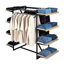Apparel Display Stands Clothing Display Shelves with Hangrails 100 Pinteres 25