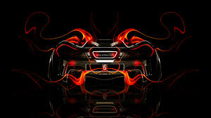 mclaren p1 back fire abstract car