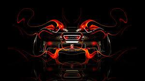 mclaren p1 back fire abstract car