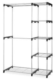 Portable Closet Rod Whitmor Double Rod Closet System Organizer Wardrobe Portable