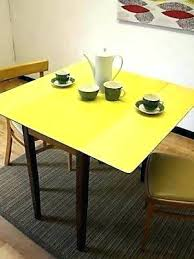 retro style dining table kitchen table retro kitchen table yellow table on vintage design regarding dining