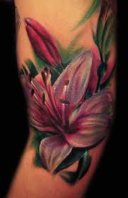цветное тату лилии альбом цветы маркет красота Beauty