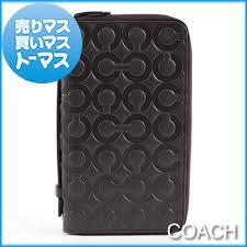 Authentic COACH Op Art Leather Zip Around Travel Organizer Wallet Large CC  Logo 77288-SV BN Brown Unisex Man Women Lady s fs04gm