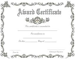 Recognition Awards Certificates Template Blank Award Certificate Template Of Recognition Free Download Word